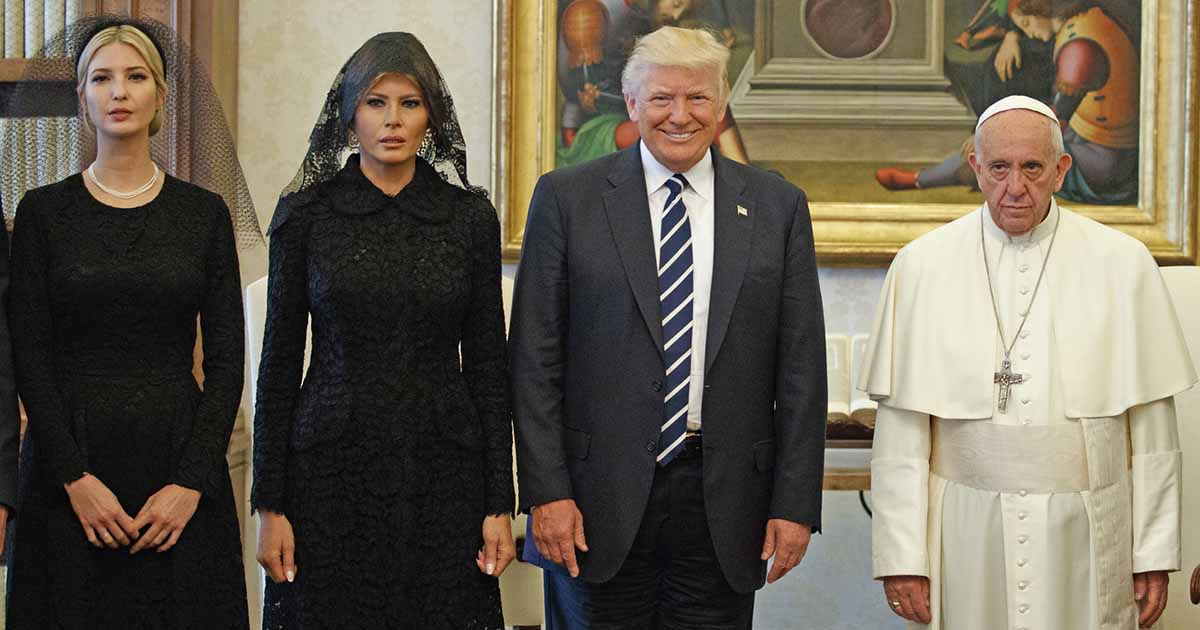 Trump, Melania, and Ivanka Just Took a Picture With The Pope and It was a Disaster