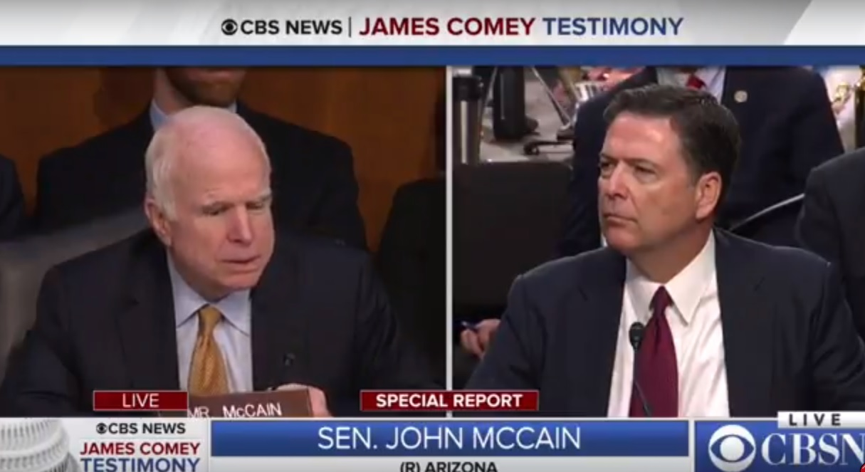 """Opinion: """"President Comey""""; is McCain Fit to be on the Senate Intelligence Committee?"""